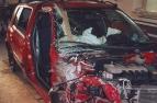 Havarované Clio před opravou
